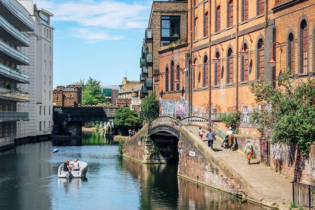 Regent's Canal walk Camden London