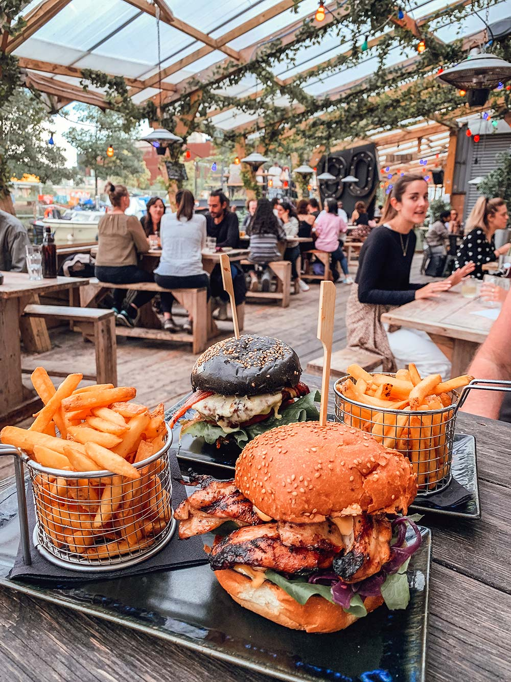 Number 90 Bar and Restaurant burgers Hackney Wick. Copyright CK Travels