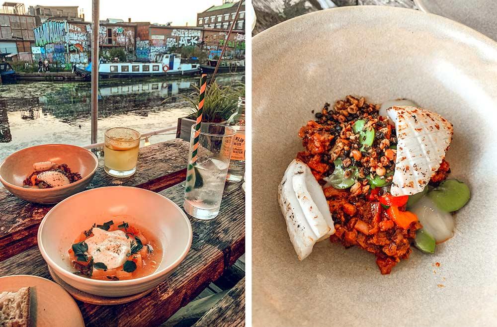 Barge East Hackney Wick set menu food. Copyright CK Travels